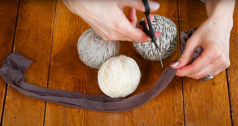 Wrap wool dryer balls in nylon